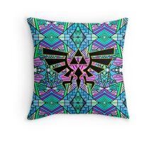 Hylian Royal Crest - Legend Of Zelda - Pattern Blue Throw Pillow
