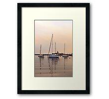 St Kilda Yachts Framed Print