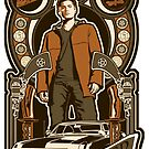 Dean Winchester Nouveau Sticker by Ryleh-Mason