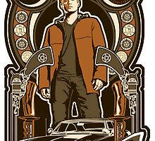 Dean Winchester Nouveau Sticker by Tracey Gurney