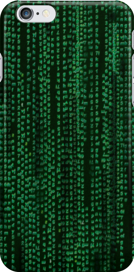 Matrix iPhone case by Kgphotographics