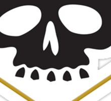 Skull with Drum Sticks Crossbones Sticker