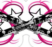Clarinet with Pink Swirls Sticker