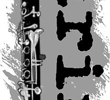 Clarinet Vertical Design by shakeoutfitters
