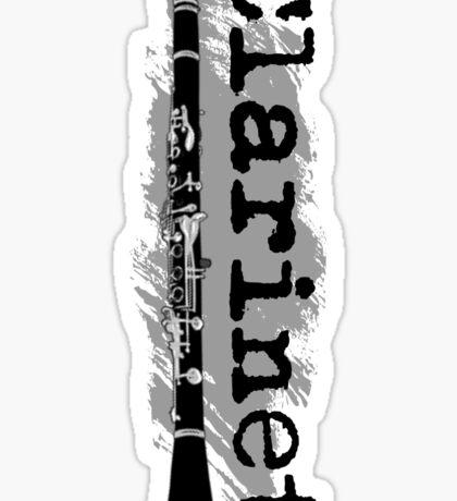 Clarinet Vertical Design Sticker
