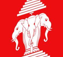 Three Headed Elephant Flag Wave Sticker