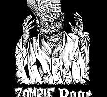 Zombie Pope Sticker by Humerus