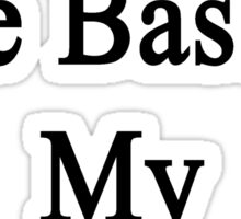 Playing The Bass Is My Therapy Sticker