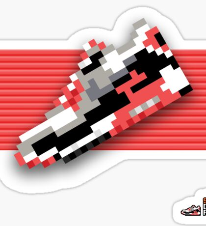 8-bit running shoe sticker Sticker