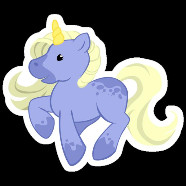 Cute Blue Unicorn by Veronica Guzzardi