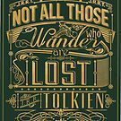 Lost Typography - STICKER (green) by MiniMoose