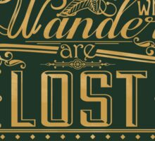 Lost Typography - STICKER (green) Sticker