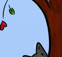Tree hiding a kitty Sticker