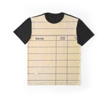 Lonely Library Card Graphic T-Shirt