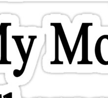 Running Is My Mom's Therapy Sticker