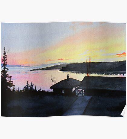 Rossport Bay Sunset Poster