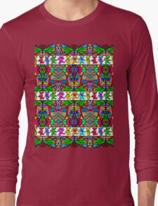 Grateful Dead Bears Trippy Pattern Long Sleeve T-Shirt