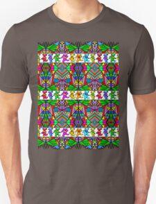 Grateful Dead Bears Trippy Pattern Unisex T-Shirt