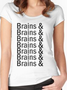Brains & .... Women's Fitted Scoop T-Shirt