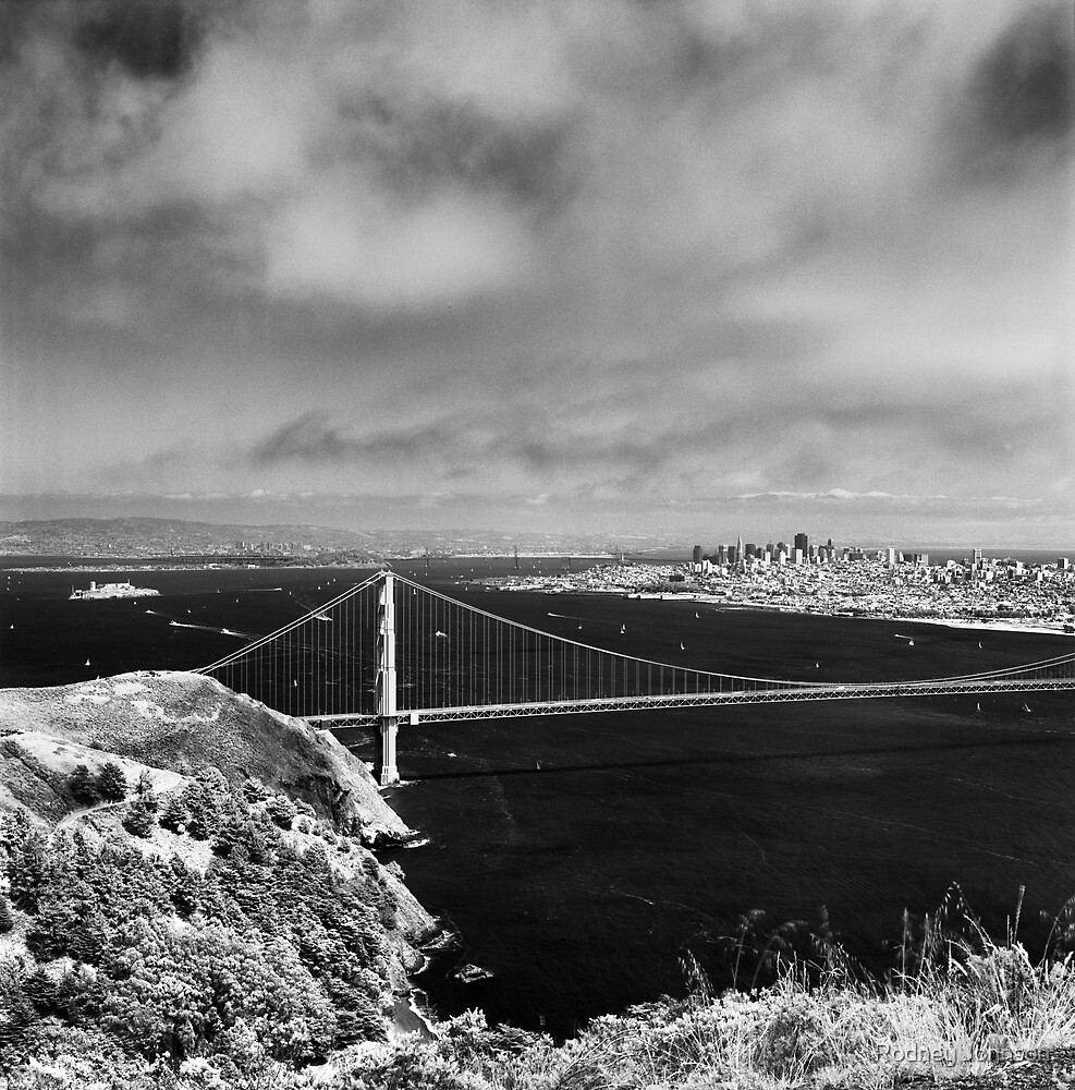 The View From Hawk Hill - 75th Anniversary of the Golden Gate Bridge by Rodney Johnson