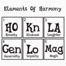 Element of harmony periodic table by Pegasi Designs