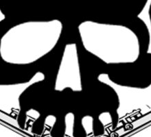 Skull with Flute Crossbones Sticker