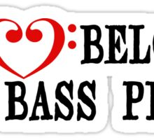 My Heart Belongs to a Bass Player Sticker