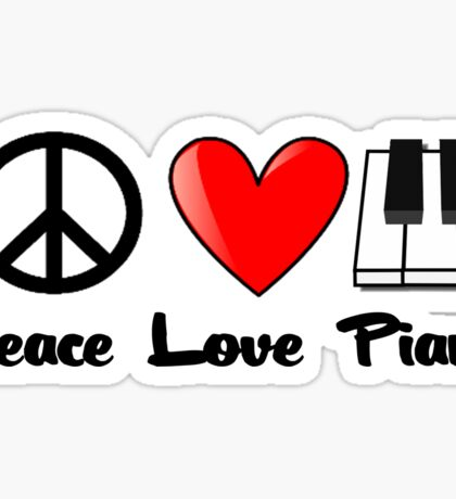 Peace, Love, Piano Sticker
