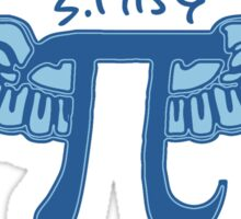 Pi Symbol With Wings Sticker