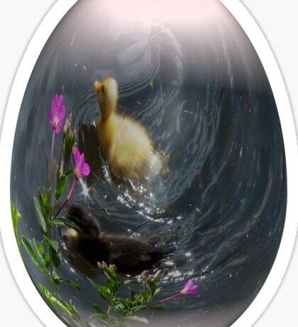 easter egg ducklings Sticker