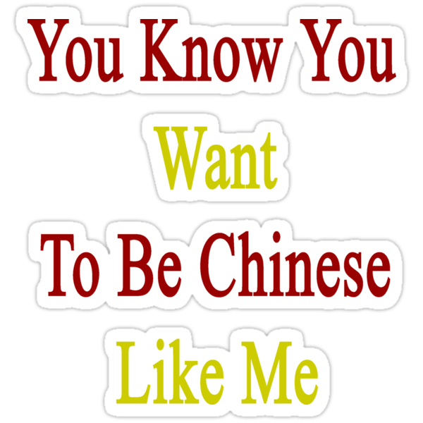 You Know You Want To Be Chinese Like Me by supernova23