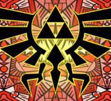 Hylian Royal Crest - Legend Of Zelda - Pattern Red Sticker