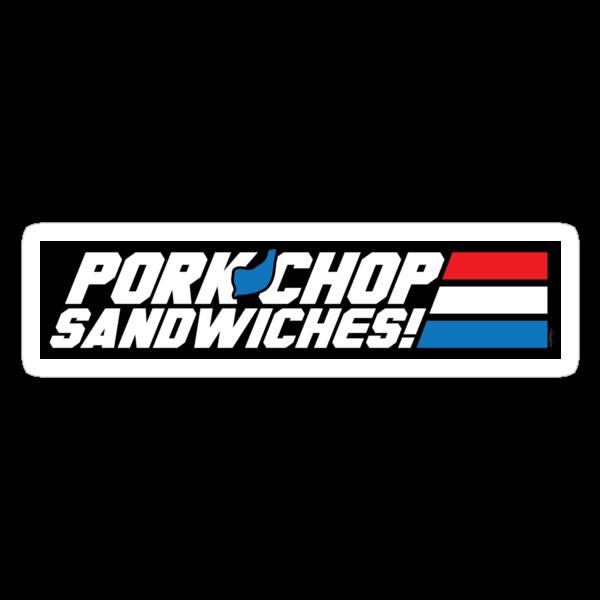 Pork Chop Sandwiches! (STICKER) by mikehandyart