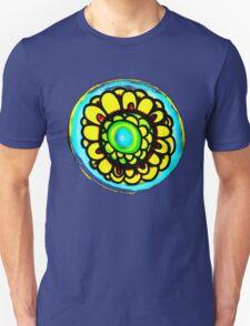 Colorful Flower Design T-Shirt