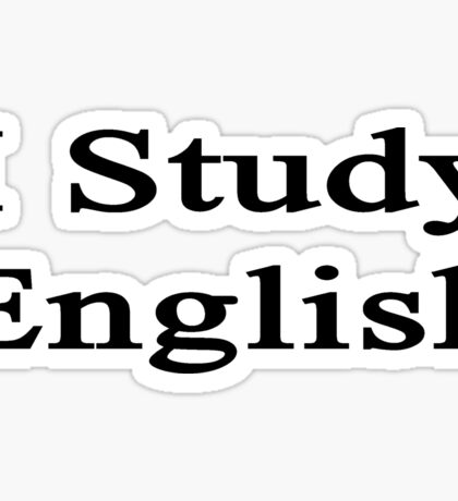 I Study English Sticker