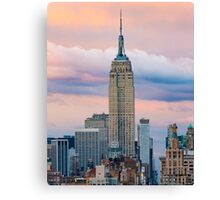Empire State in Cotton Candy Canvas Print