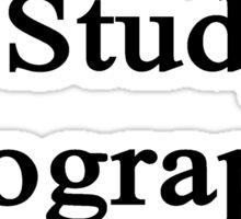 I Study Geography Sticker