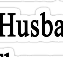 Karate Is My Husband's Therapy Sticker