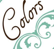 Elegant Regard Laundry Labels: Colors Sticker