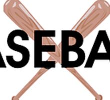 Baseball oval Sticker