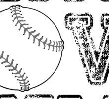 Peace, Love, Baseball Sticker