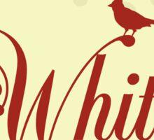 Here Birdie Laundry Label: Whites Sticker