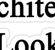Great Architects Look Like Me Sticker