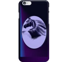 Horse Silhouette Oval iPhone Case/Skin