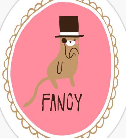 Fancy Cat Sticker Sticker