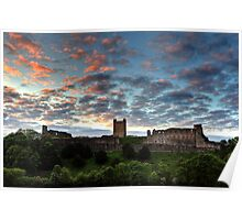Sunset Over Richmond Castle Poster