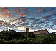 Sunset Over Richmond Castle Photographic Print