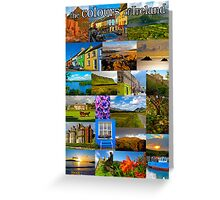 The colours of Ireland Greeting Card