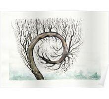 Spiral Tree Poster