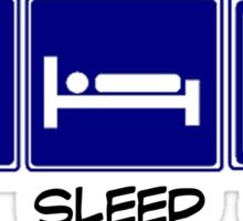 Eat, Sleep, Play Badminton Sticker